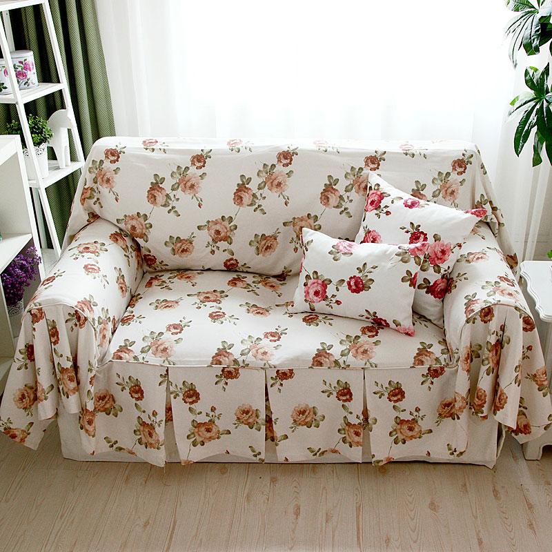 天使雅儿欧式田园布艺沙发盖布沙发罩出口面料巴黎巾