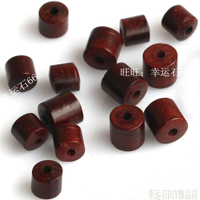 天然小叶紫檀5-8MM圆柱直管桶珠隔珠隔片 DIY饰品材料散珠配件