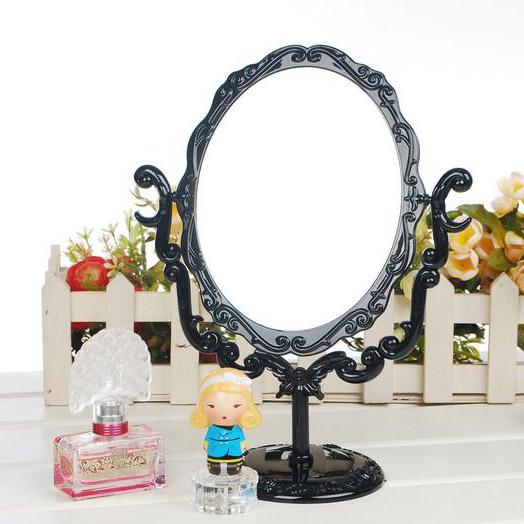 安娜苏风格旋转式镜子台式复古公主欧式大号化妆镜