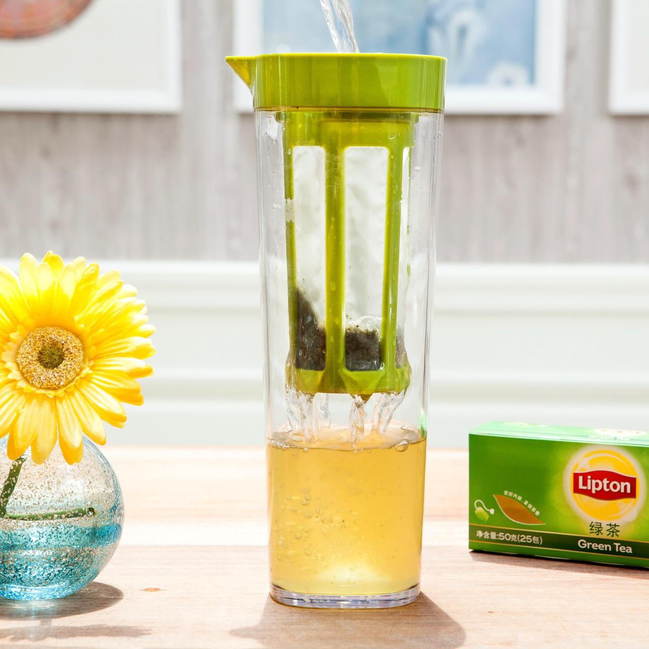 日本ASVEL冷水壶 家用耐高温塑料凉开水壶 夏季密封泡茶壶果汁杯