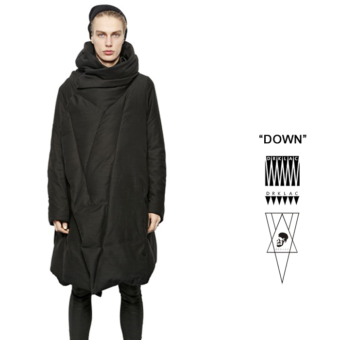定制设计剪裁长款保暖立体羽绒服原创天天御寒