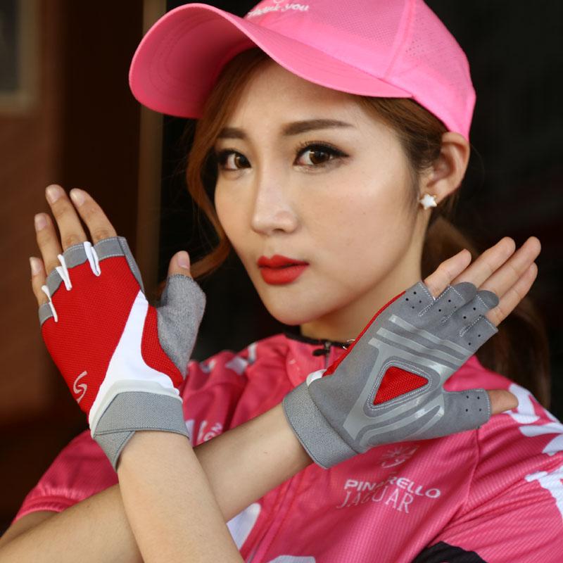 透气手套训练户外健身运动情人防滑 夏薄款露指半指手套