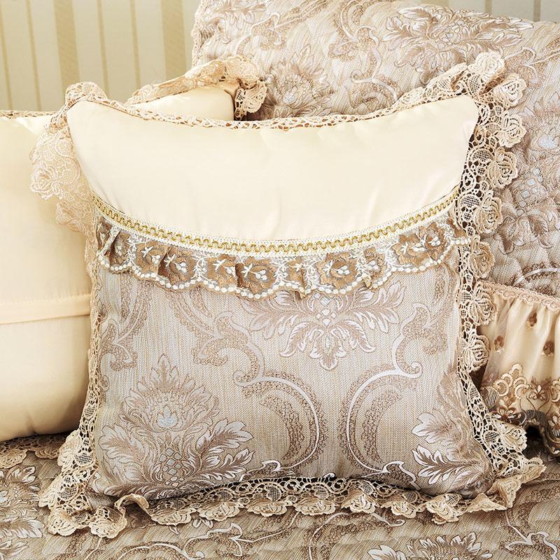 四季布艺欧式沙发套抱枕套定制沙发靠垫套