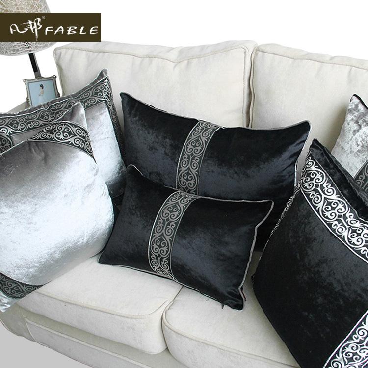 【凡邦】抱枕沙发靠垫办公室床头靠汽车欧式奢华黑灰