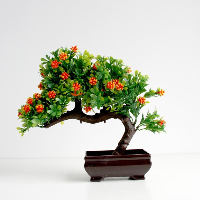 仿真植物盆栽盆景迎客松套装落地塑料花假花室内客厅