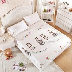 时妃床笠纯棉单件 全棉床罩 床单 席梦思床垫保护套1.5 1.8米床套