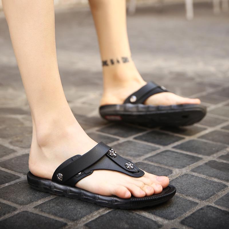 夏季韩版潮流男鞋子沙滩鞋流行拖鞋男士人字拖男学生拖鞋防滑潮拖