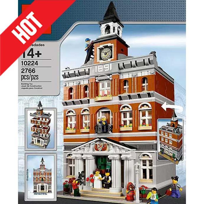 现货24小时发LEGO乐高10224市政厅绝版未开封街景正品拼插积木玩