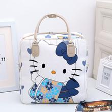 韩版可爱卡通旅行包女手提行李包大容量防水旅行袋学生短途旅游包