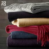 润帛 加厚纯羊毛围巾女 春秋冬季保暖纯色灰色超长款两用围脖披肩