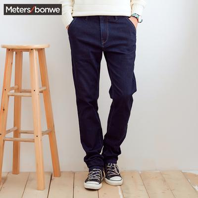 美特斯邦威牛仔裤男2016冬装新款基本五袋洗水牛仔裤756030专柜款