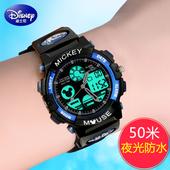 迪士尼儿童手表男孩电子表中学生手表男学生米奇防水男童运动手表