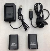新款 包邮XBOX360无线手柄电池包360手柄电池充电线+电池4800毫安