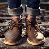 冬季加绒保暖 男鞋 雪地短靴沙漠靴工装 马丁靴男靴英伦风皮靴子男士
