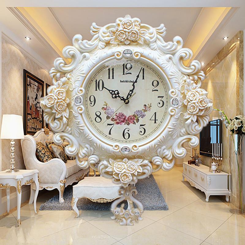 新品欧式挂钟客厅大号挂表创意静音钟表摆钟墙壁钟钟