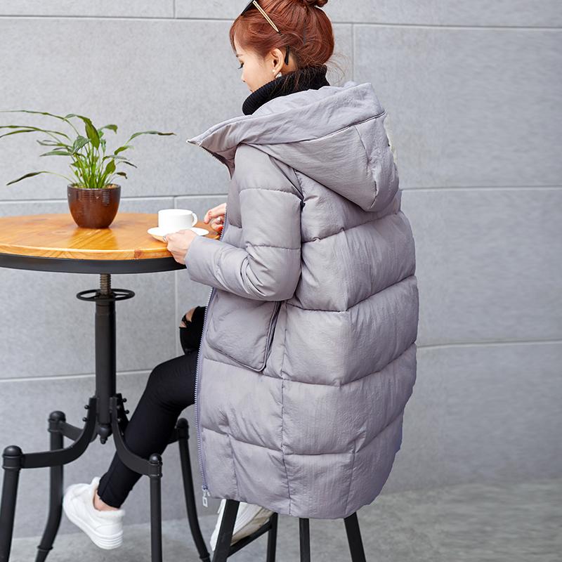 2016冬季新品中长款时尚百搭大码女装棉衣韩版棉服外套保暖棉袄潮