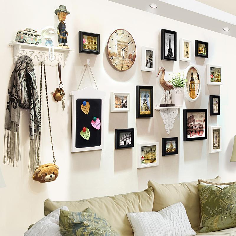 创意挂钟欧式相框组合挂墙相片墙