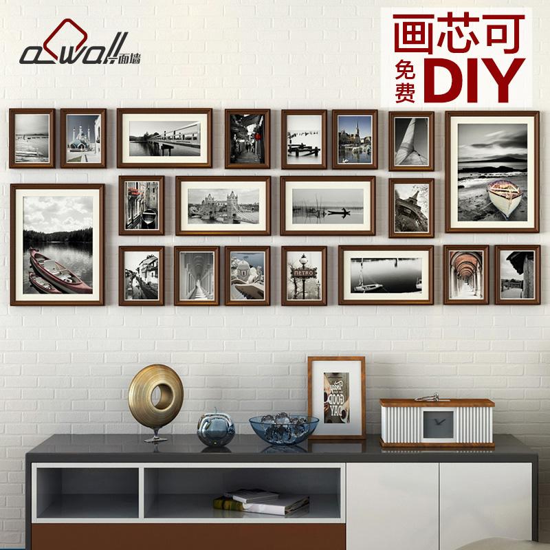欧式照片墙相框墙客厅卧室创意组合大墙面