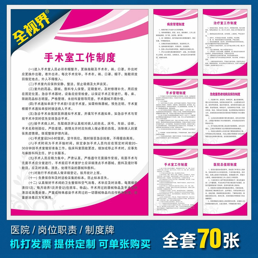 医院部门岗位职责挂图 医院人员工作制度挂画 产科管理制度海报