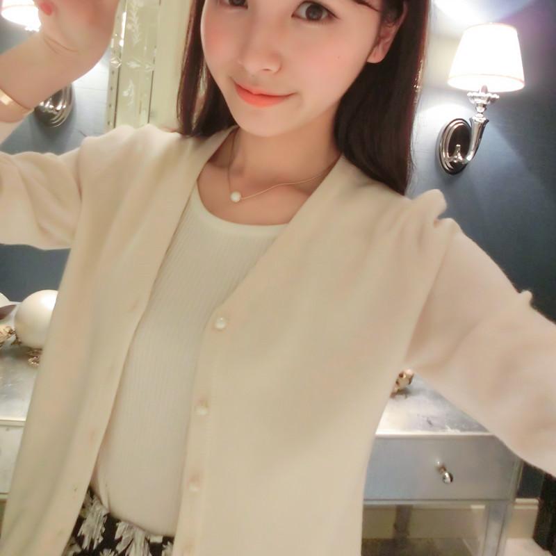 恋沃秋季新品韩版新款小开衫显瘦短款针织开衫披肩女装毛衣薄外套