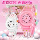 儿童手表女孩韩版小学生女童可爱小巧防水男童小孩少女手表石英表