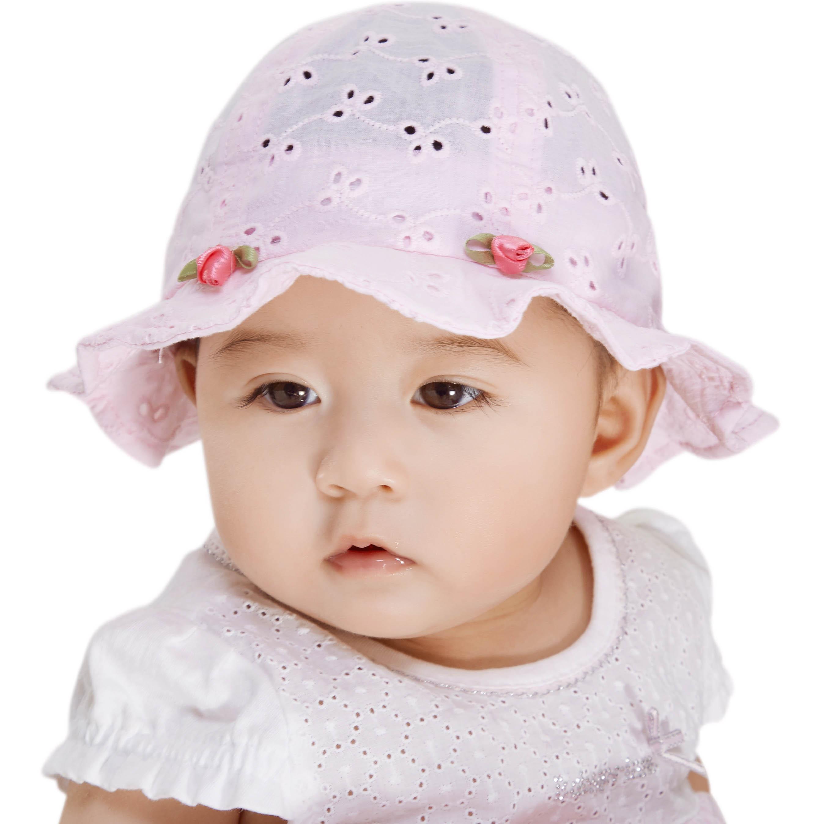 女寶寶 嬰兒靚冠兒帽子 公主透氣遮陽帽個月盆帽防曬