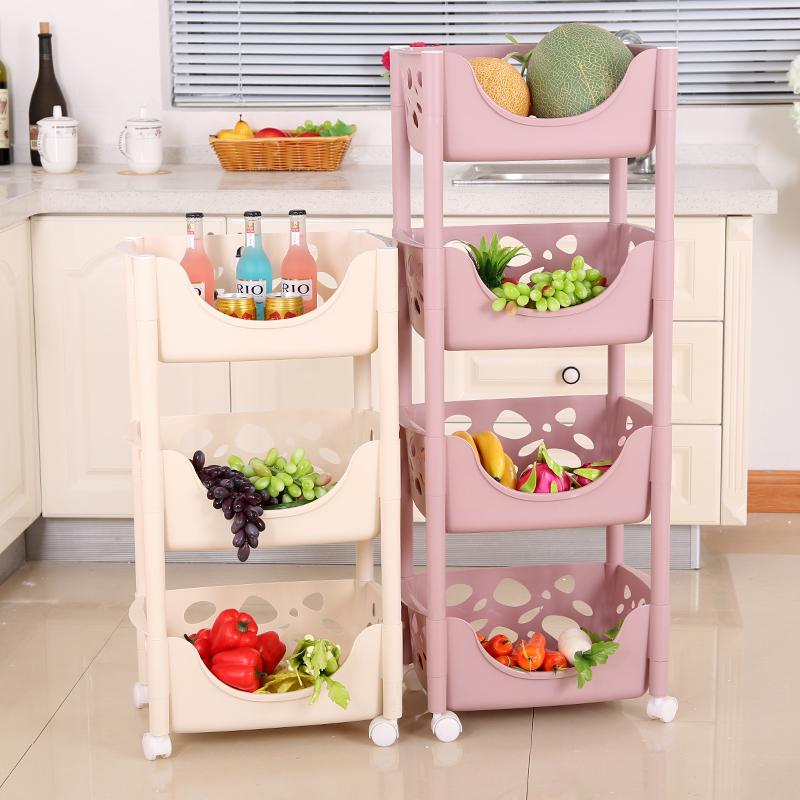 置物架蔬菜塑料水果筐储物架收纳落地厨房