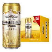 【天猫超市】Harbin/哈尔滨啤酒 小麦王拉罐500ml*18听 整箱装