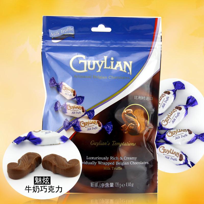 比利时进口 吉利莲魅炫牛奶巧克力126g 纯可可脂夹心 喜糖独立装