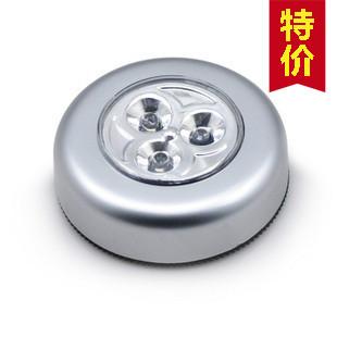 3个LED拍拍灯 吸卡触摸灯 墙壁橱柜后背箱灯 多功能方便节能