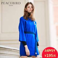 太平鸟女装冬季新款纯色宽松长款毛衣女套头 针织衫女中长款图片