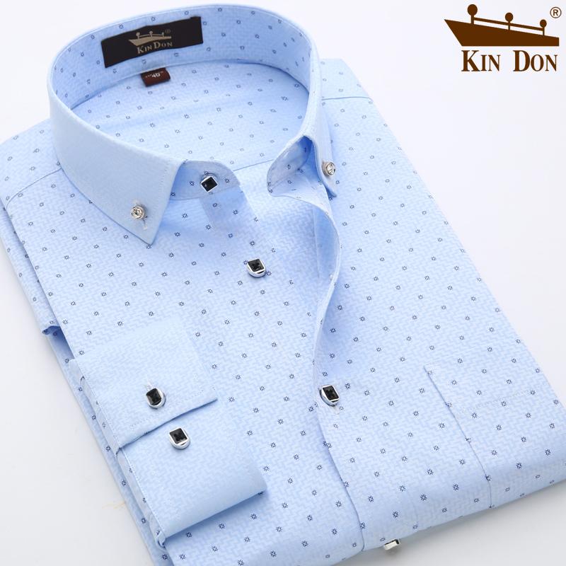 金盾男装衬衫白色商务衬衫男士长袖春秋衬衣韩版免烫修身寸衫