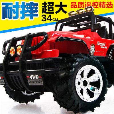 超大越野遥控车充电方向盘遥控汽车警车漂移小赛车男孩儿童玩具车