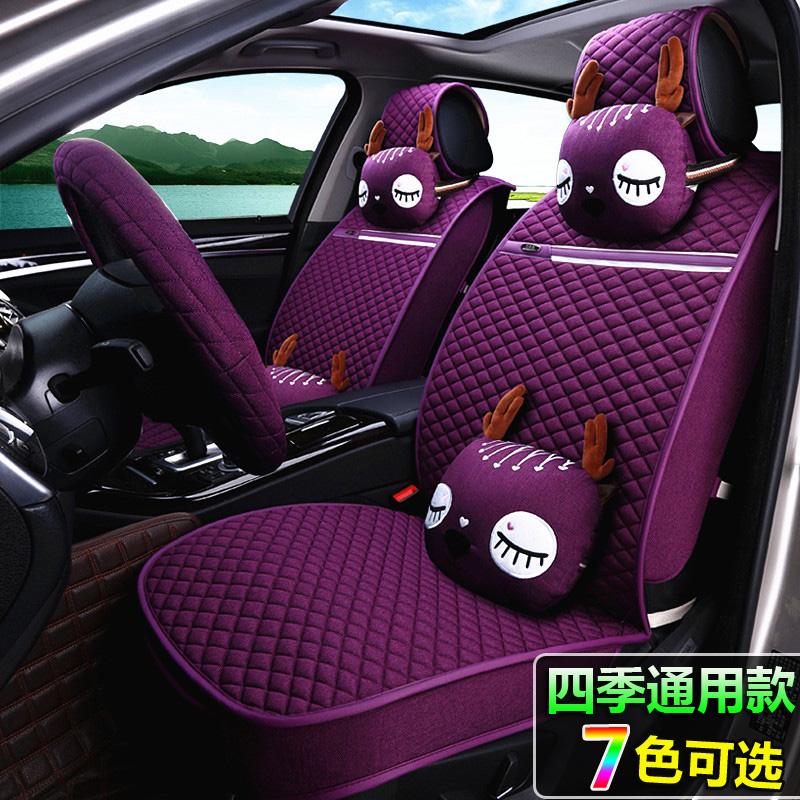 起亚K2K3智跑K4狮跑K5KX3夏季新款全包专用汽车座垫四季通用坐垫