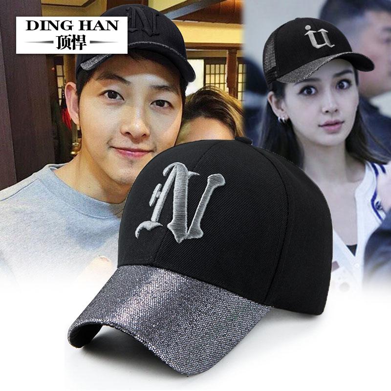 棒球帽鴨舌帽時尚亮片遮陽帽女夏韓版潮人情侶帽子春季