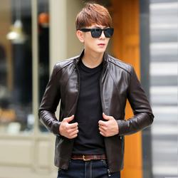 皮衣男士皮夹克2016秋冬季加绒新款短款韩版修身青年pu男装外套潮