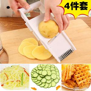多功能切菜器 厨房刨丝器擦丝器切土豆丝切丝器切片器姜蒜碎末器