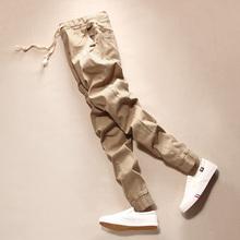 九分裤男式小脚裤束脚收口裤子 男生韩版修身9分裤小码铅笔休闲裤