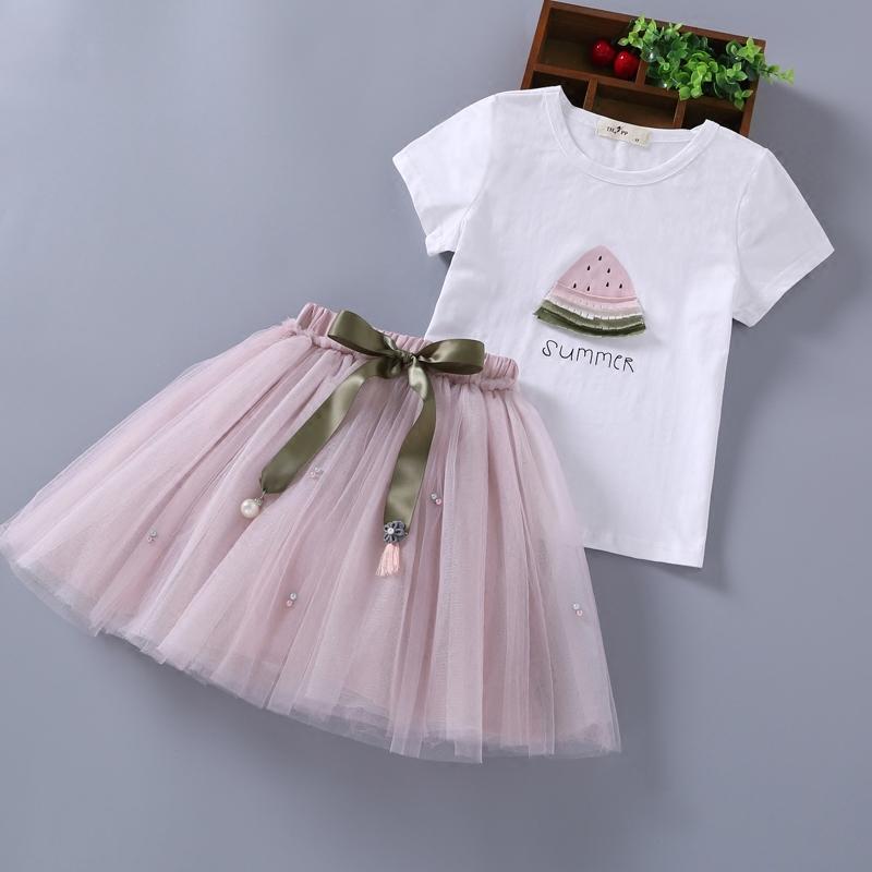 套裝兩件套短袖公主兒童女童韓版潮套裙純棉夏裝童裝