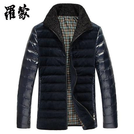 罗蒙商务羽绒服男士短款时尚休闲冬季新品羽绒外套男34447020商品大图