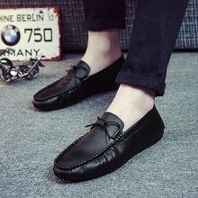 社会小伙鞋子男士休闲鞋豆豆鞋男懒人夏季新款韩版男鞋英伦小皮鞋