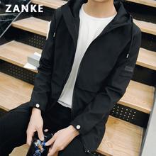 男士外套春季2017韩版潮流中长款春秋季夹克男装休闲修身上衣春装
