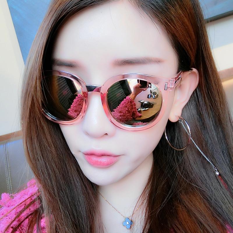 韩国个性太阳眼镜潮墨镜圆脸女士