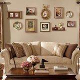 美式组合客厅餐厅装饰画大尺寸相框墙油画挂画欧式墙画壁画发财鹿