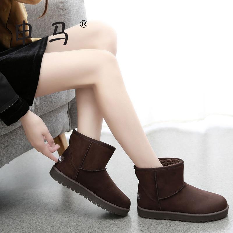 2015冬季新款短筒雪地靴女短靴子休闲学生经典简约棉鞋女加厚保暖