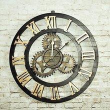 复古loft工业风齿轮钟表创意家居墙面挂钟软装饰品咖啡厅个性时钟
