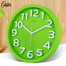 康巴丝时尚超静音钟表家用立体创意挂钟客厅挂表石英钟现代时钟表