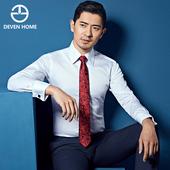 谛梵男装 商务男士白色法式衬衫长袖正装韩版纯棉袖扣衬衣修身型