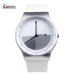 夏日礼物Enmex渐变颜色皮带手表时刻变幻表盘设计特色创意男表