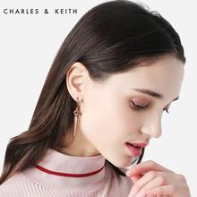 CHARLES&KEITH女士耳环CK5-41430023 欧美时尚半宝石长款耳环